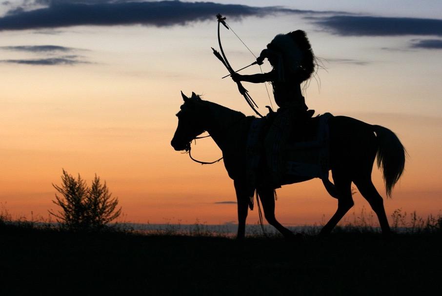 Indianer-auf-Pferd